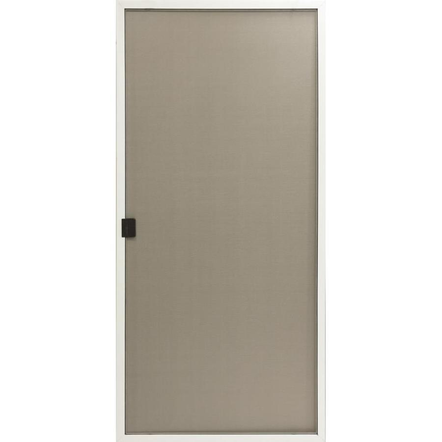 ReliaBilt White Aluminum Sliding Screen Door (Common: 36-in x 80-in; Actual: 35.625-in x 77.562-in)