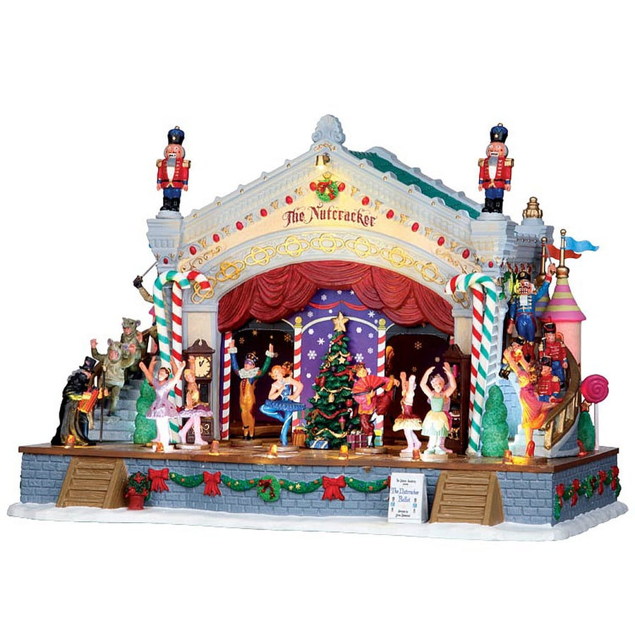 Carole Towne 7-Piece Porcelain Lighted Musical Animatronic Nutcracker Suite Christmas Collectible