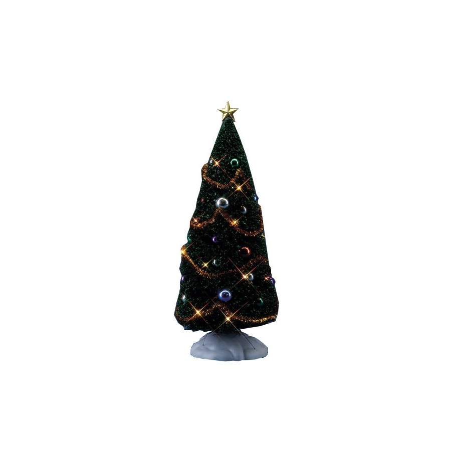 Carole Towne Christmas Plastic Lighted Decorated Yule Tree Christmas Collectible