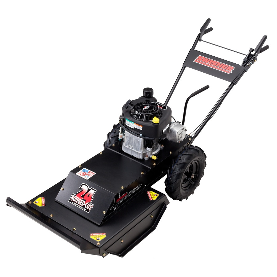 Swisher Predator 344-cc 24-in Self-Propelled Rear Wheel Drive Front Discharge Gas Push Lawn Mower with Briggs & Stratton Engine