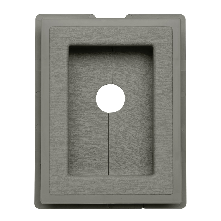 Durabuilt 6.875-in x 5.5-in Sagebrook/Pebble Vinyl Electrical Mounting Block