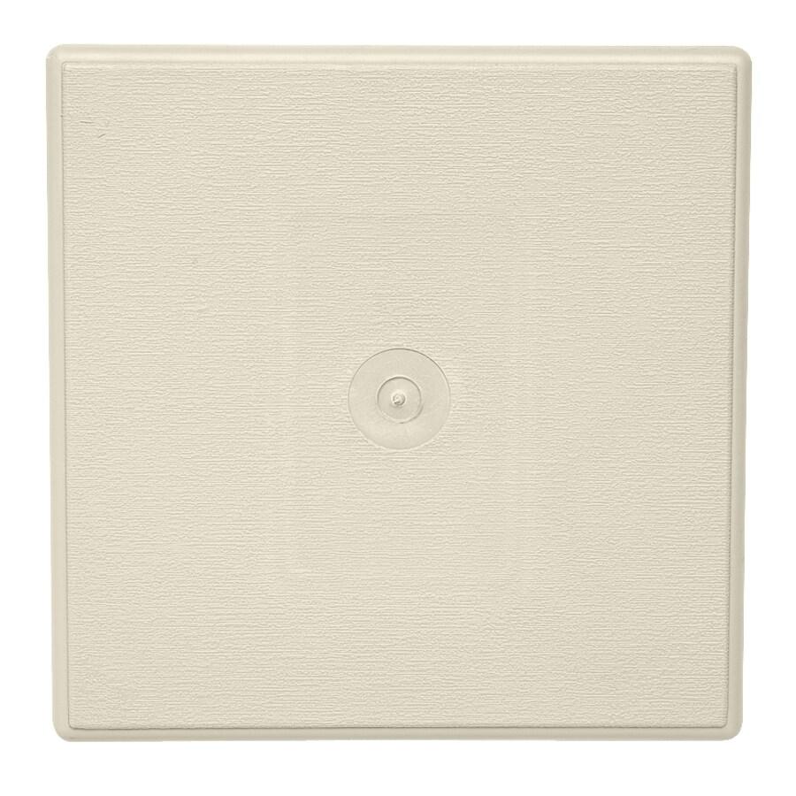 Durabuilt 6.625-in x 6.625-in Cream/Pebble Vinyl Universal Mounting Block