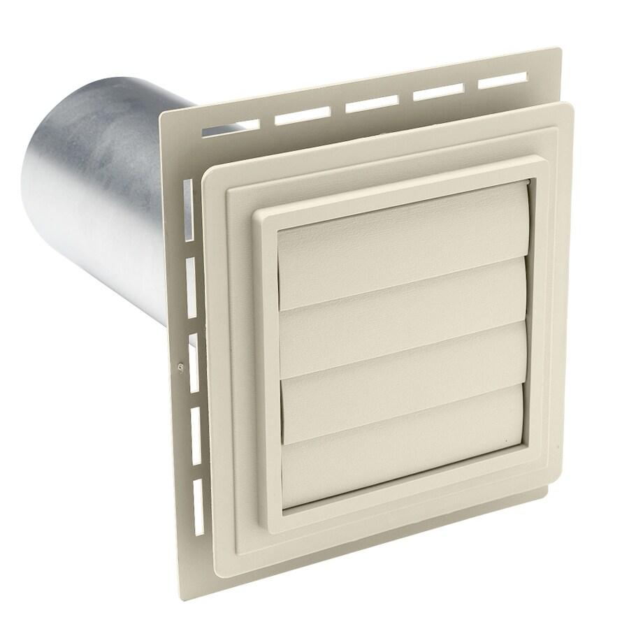 Shop Durabuilt 4-in Dia Plastic R2 Exhaust Dryer Vent Hood ...
