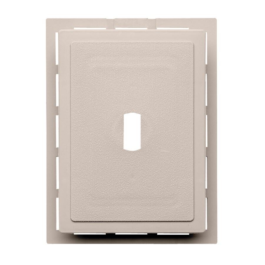 Durabuilt 6.875-in x 5.5-in Beige/Pebble Vinyl Electrical Mounting Block