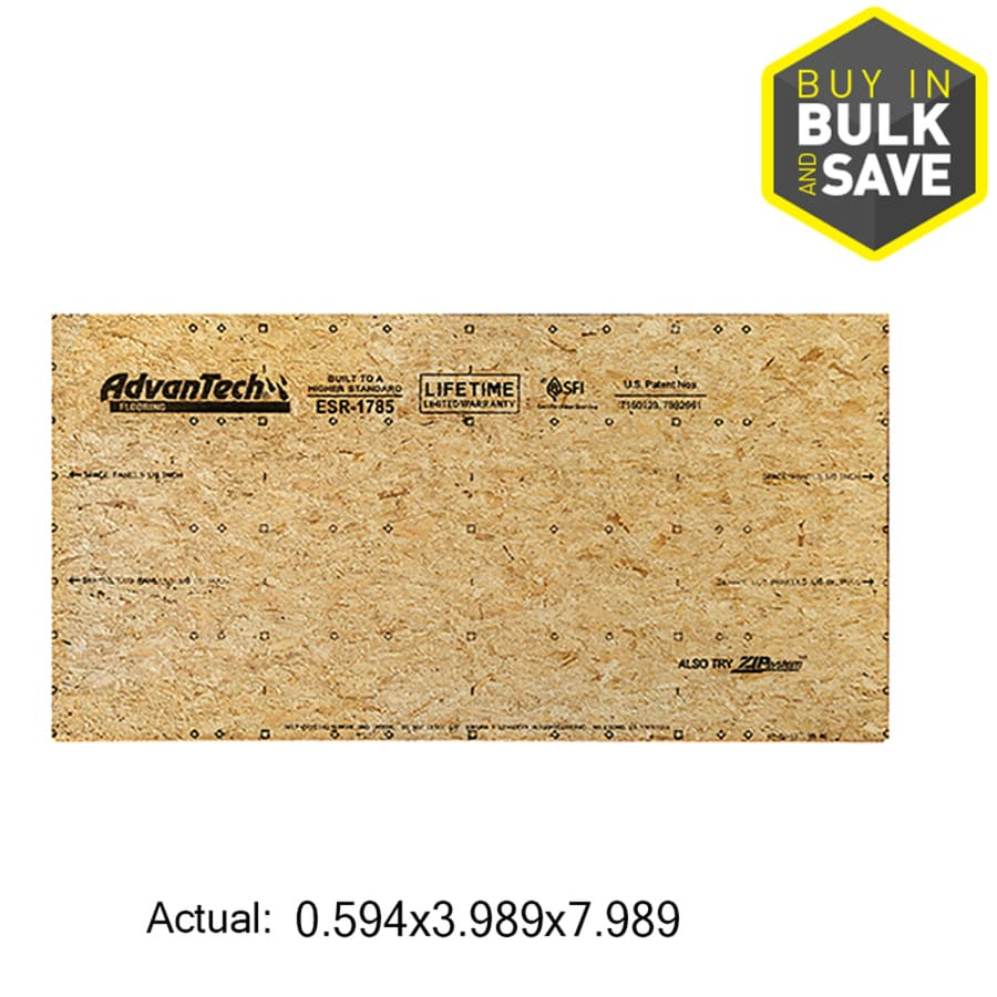 AdvanTech Flooring 23/32 CAT PS2-10 Tongue and Groove OSB Subfloor, Application as 4 x 8