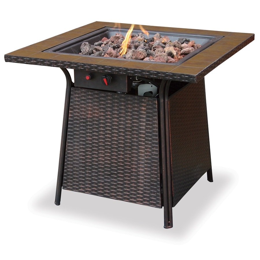 Blue Rhino 32-in W 30,000-BTU Brown Steel Liquid Propane Fire Table