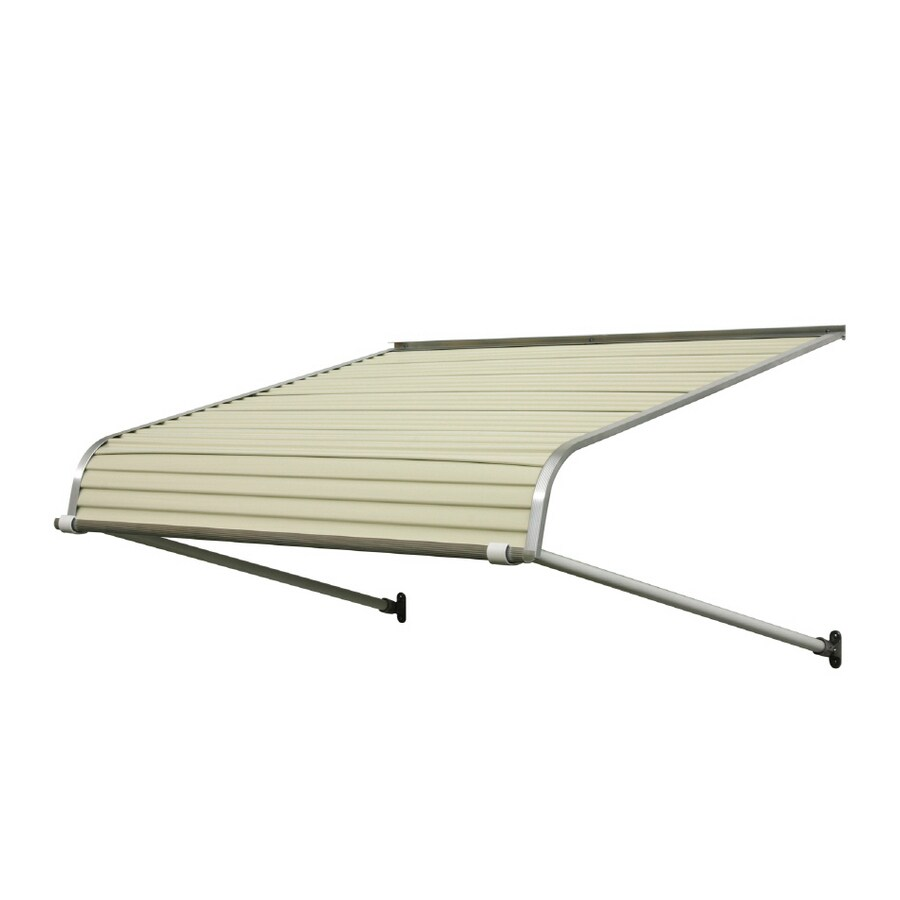 NuImage Awnings 84-in Wide x 42-in Projection Almond Solid Open Slope Door Awning