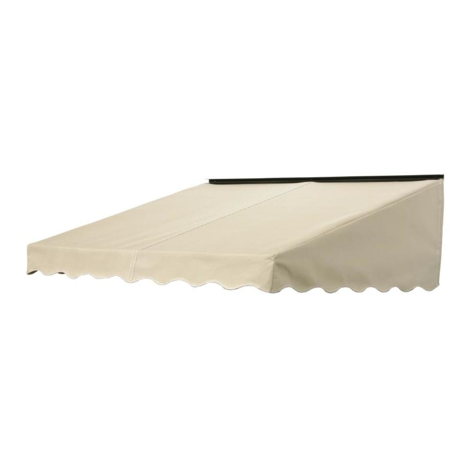 NuImage Awnings 84-in Wide x 47-in Projection Linen Solid Slope Door Awning