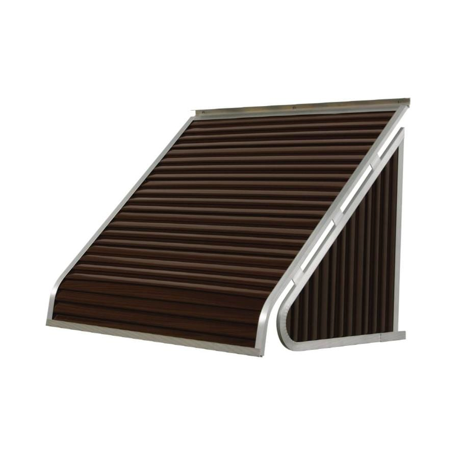 NuImage Awnings 48-in Wide x 20-in Projection Brown Solid Slope Window Awning