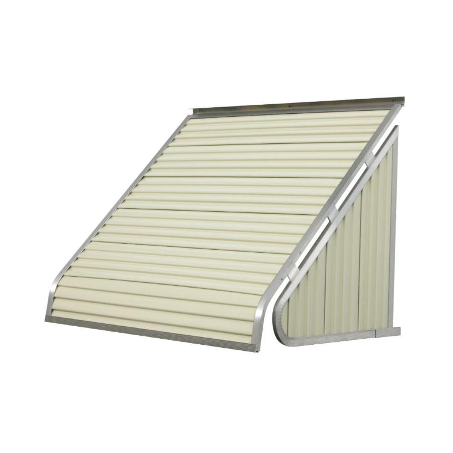 NuImage Awnings 84-in Wide x 20-in Projection Almond Solid Slope Window Awning