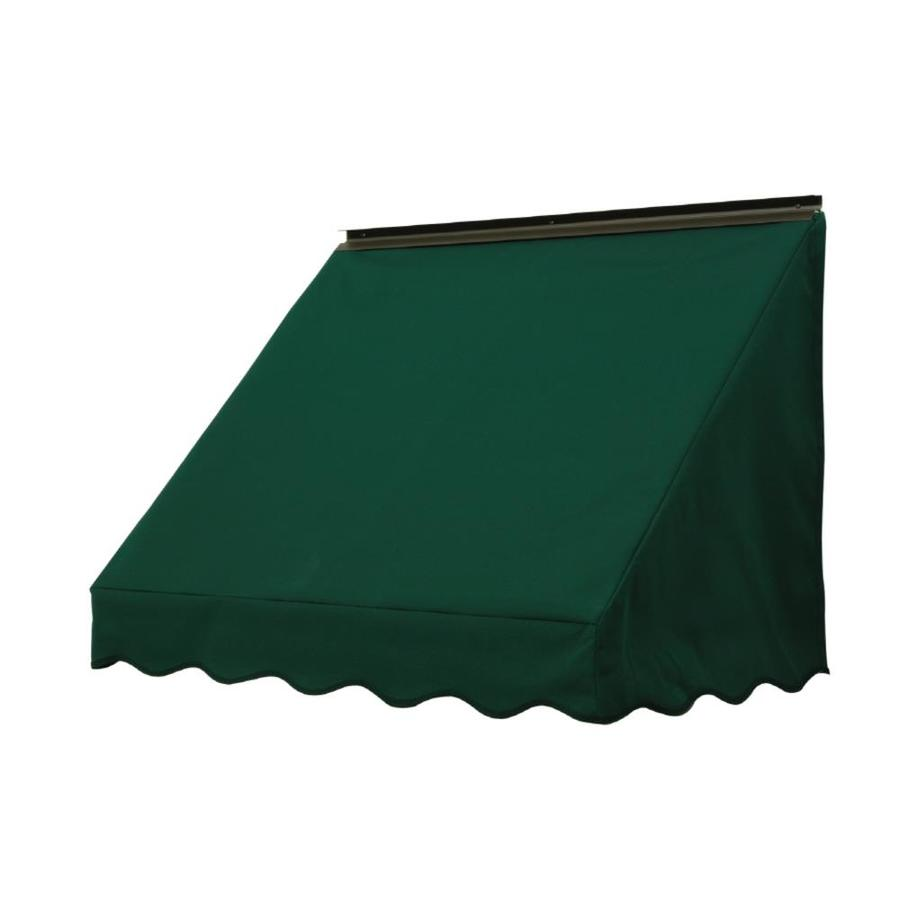 NuImage Awnings 84-in Wide x 24-in Projection Hunter Green Solid Slope Window Awning