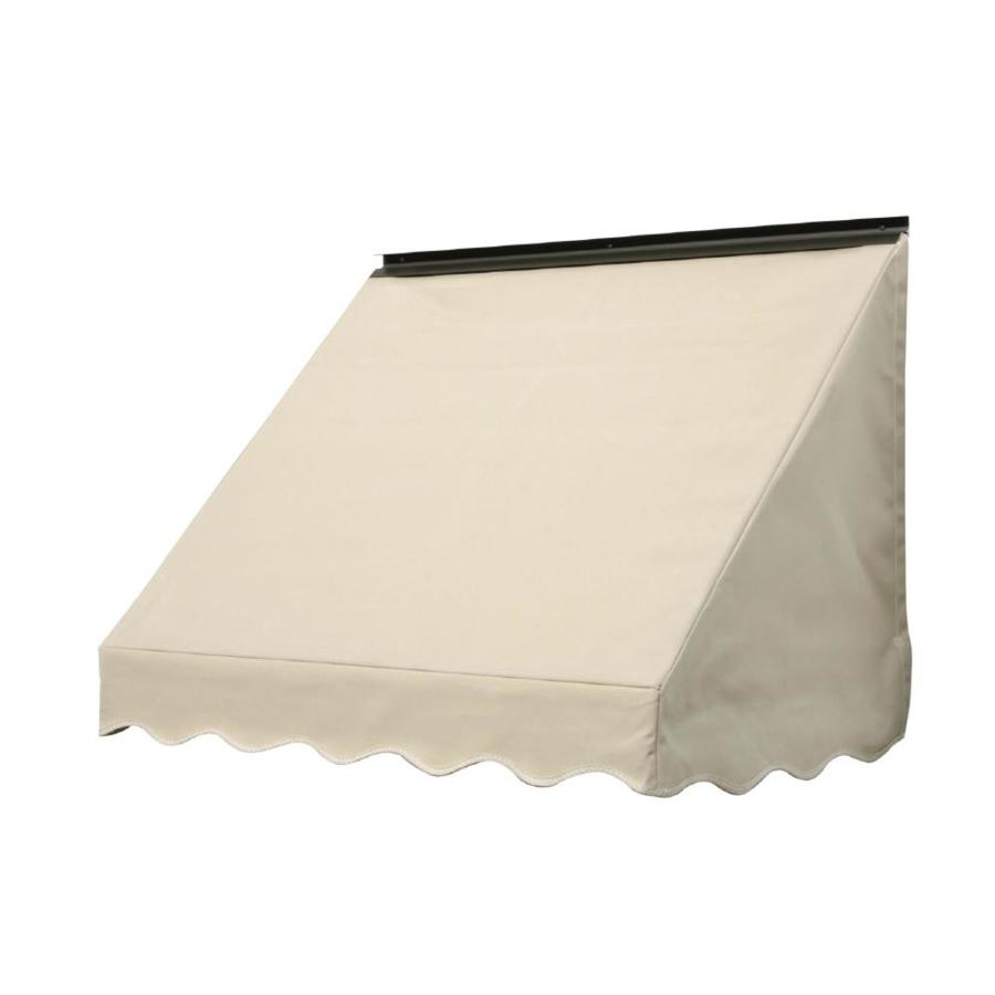 NuImage Awnings 84-in Wide x 18-in Projection Linen Solid Slope Window Awning