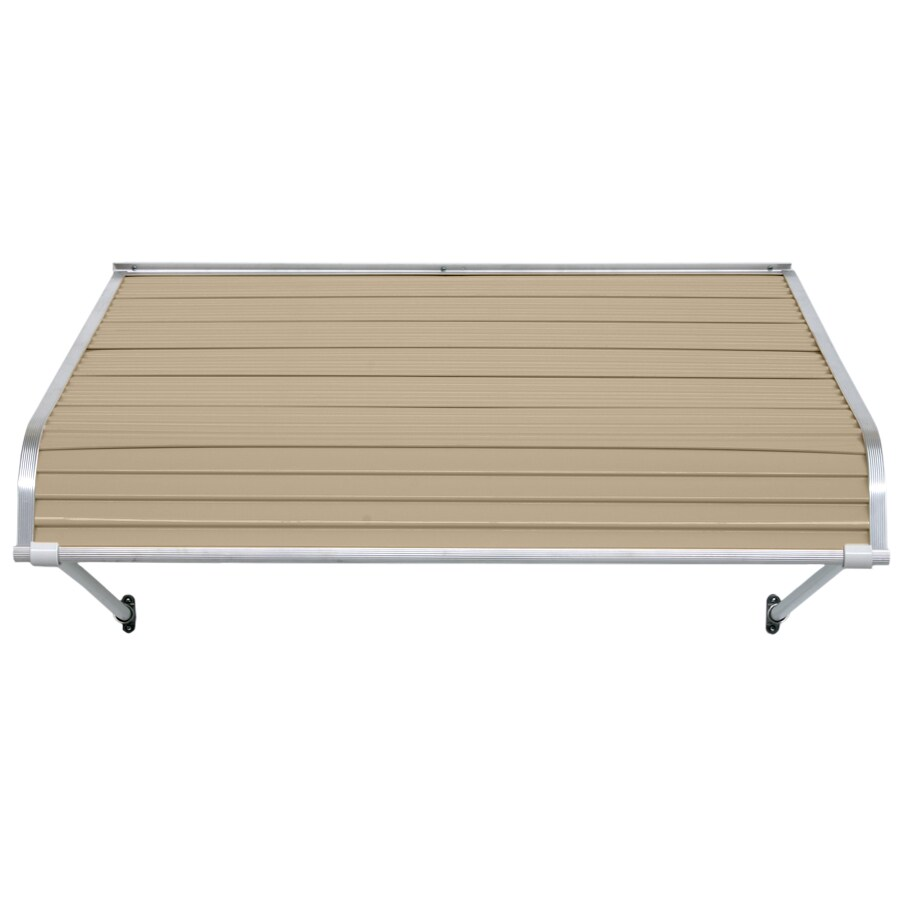 NuImage Awnings 60-in Wide x 48-in Projection Sandalwood Open Slope Door Awning