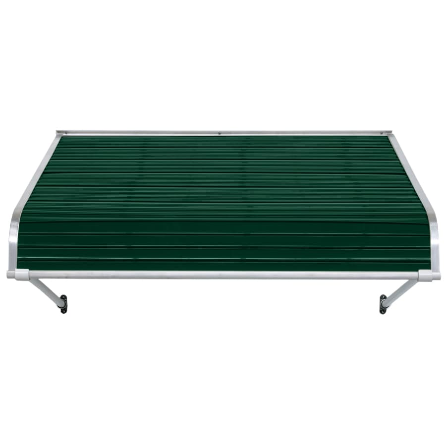 NuImage Awnings 66-in Wide x 54-in Projection Evergreen Open Slope Door Awning