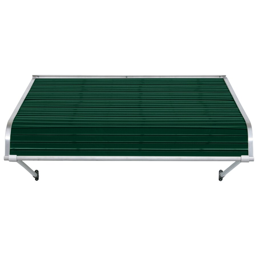 NuImage Awnings 96-in Wide x 54-in Projection Evergreen Open Slope Door Awning