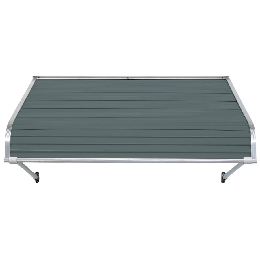 NuImage Awnings 40-in Wide x 30-in Projection Slate Blue Open Slope Door Awning