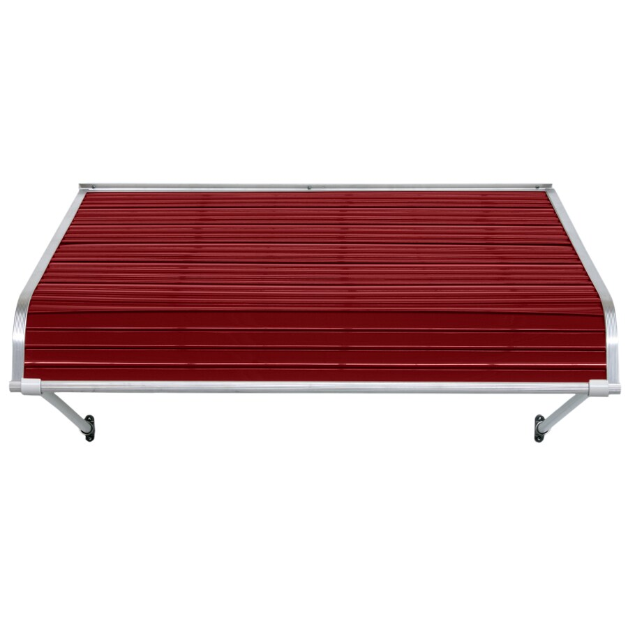 NuImage Awnings 96-in Wide x 30-in Projection Brick Red Open Slope Door Awning