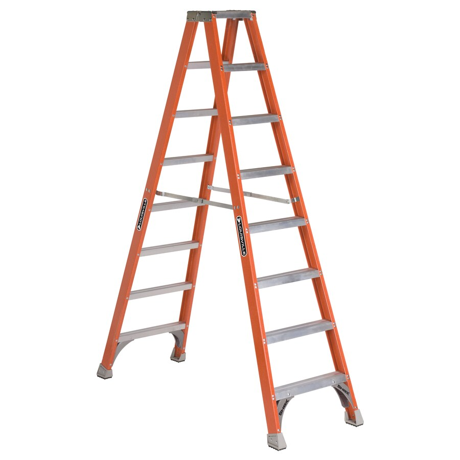 Louisville 8-ft Fiberglass 300-lb Type IA Step Ladder