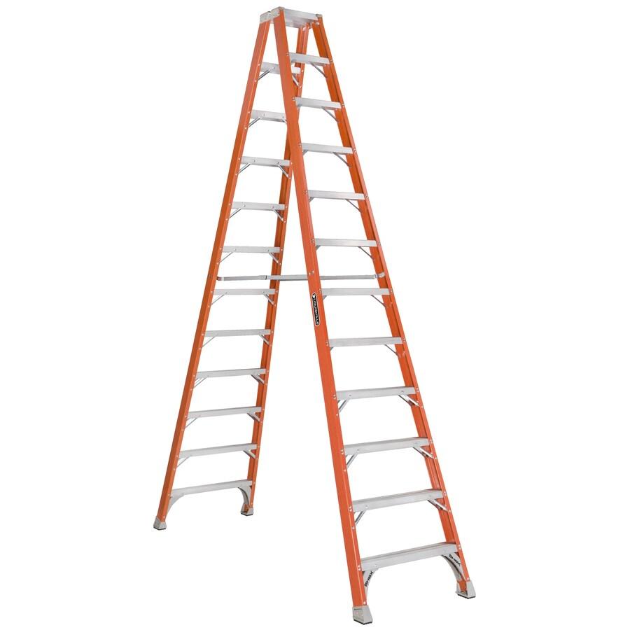 Louisville 12-ft Fiberglass 300-lb Type IA Step Ladder