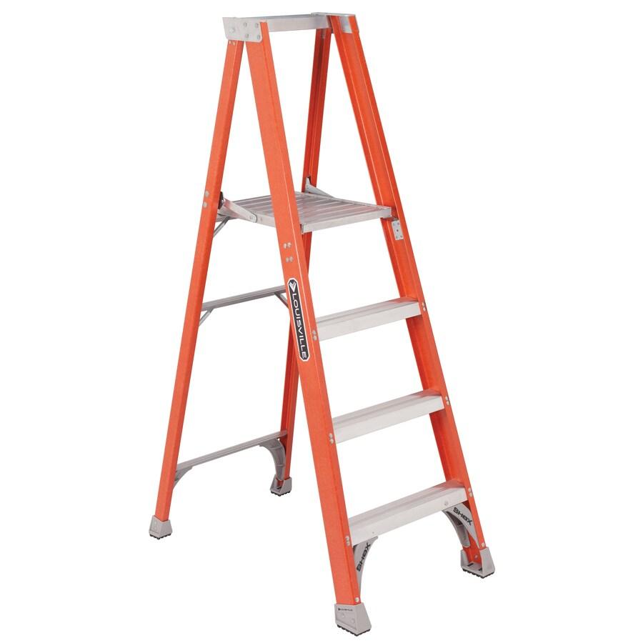 Louisville 3-ft Fiberglass 300-lb Type IA Platform Ladder