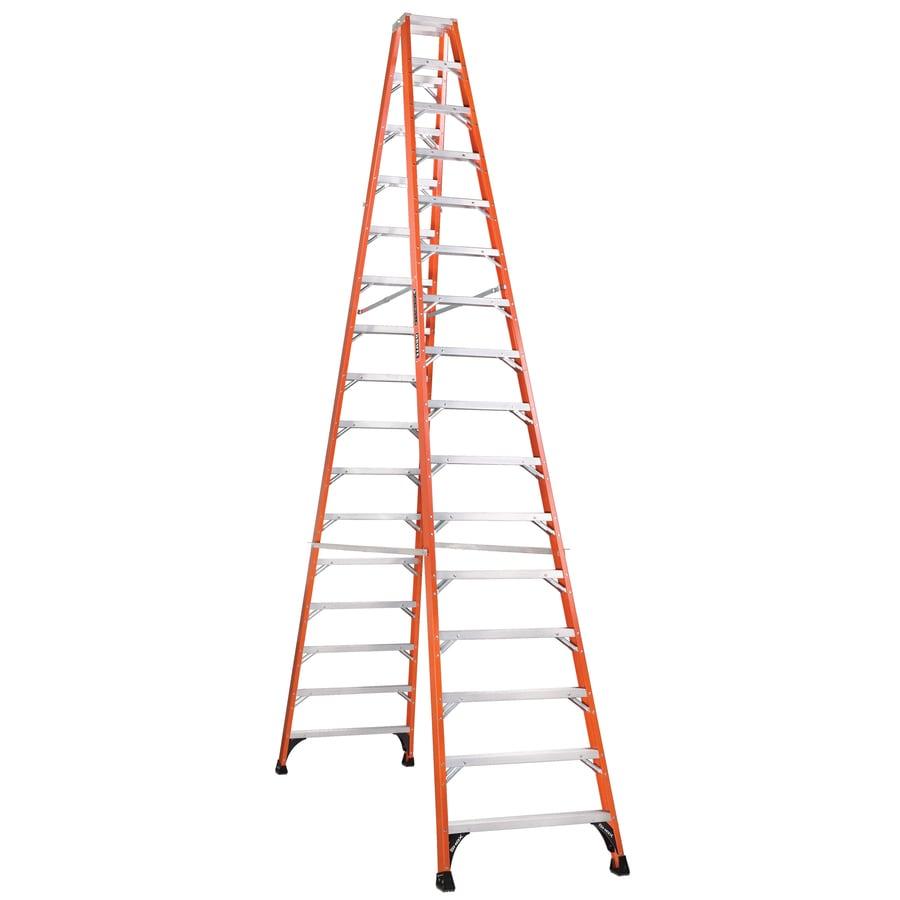 Louisville 16-ft Fiberglass 375-lb Type IAA Step Ladder