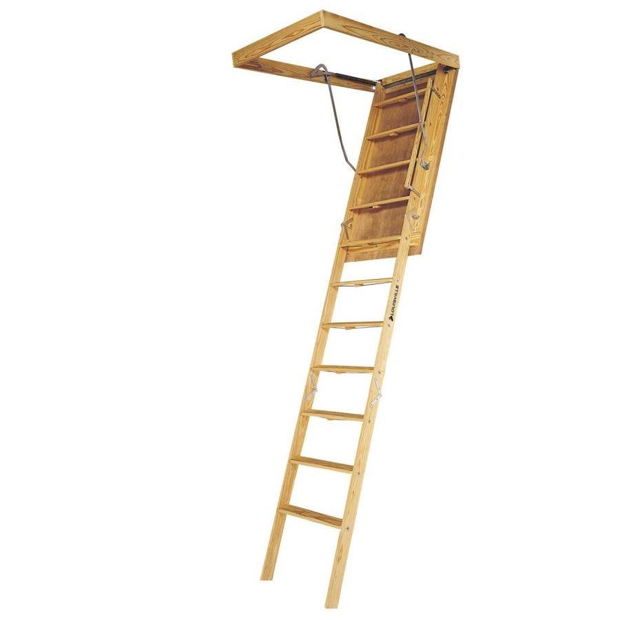Louisville Big Boy 7-ft to 8-ft Type Ia Wood Attic Ladder