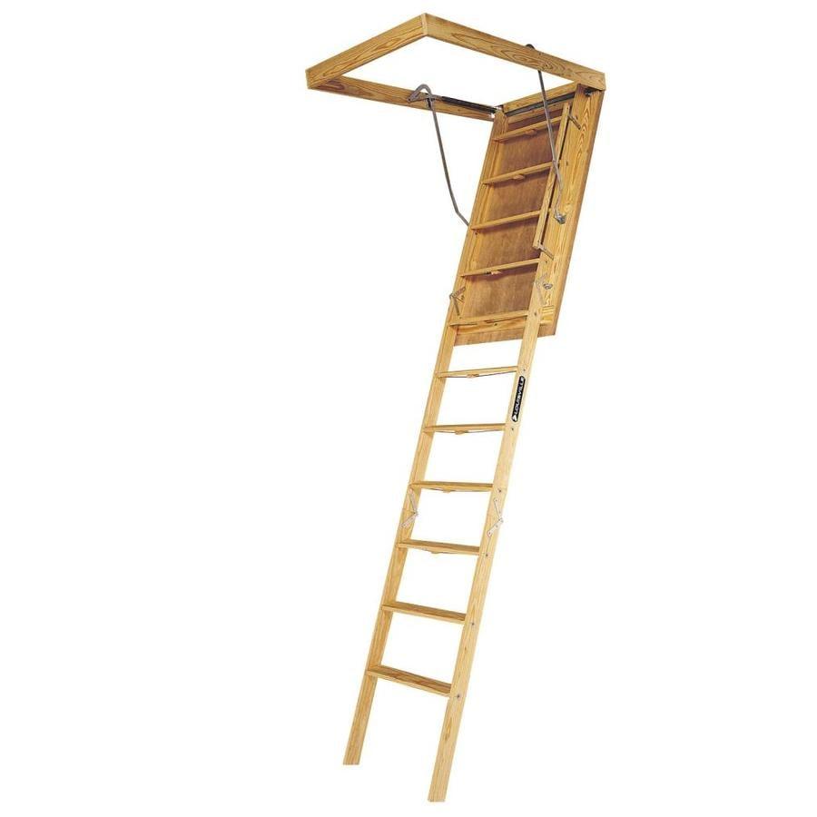 Louisville Big Boy 8-ft to 10-ft Type IA Wood Attic Ladder