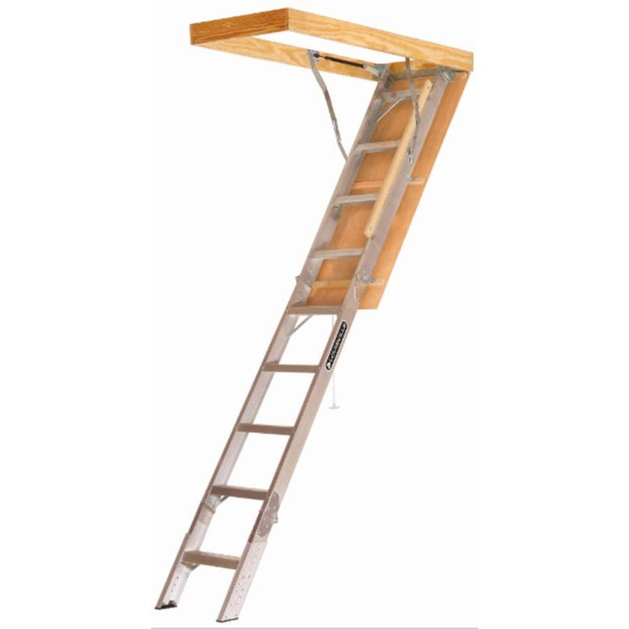 Louisville Elite 8-ft to 10-ft Type Iaa Aluminum Attic Ladder