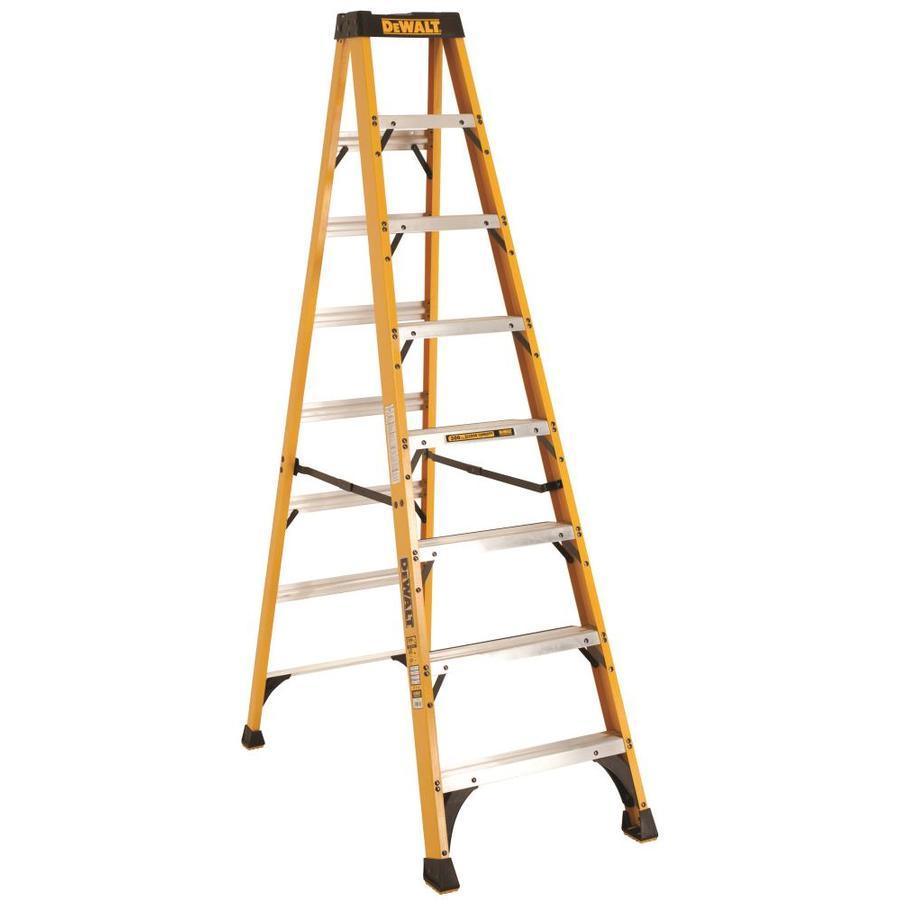 DEWALT 8-ft Fiberglass 300-lb Type IA Step Ladder