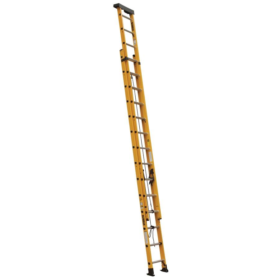 DEWALT 28 Feet Fiberglass Extension 300-lb Type IA Ladder