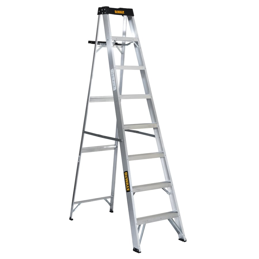 Shop Dewalt 8 Ft Aluminum 250 Lb Type I Step Ladder At