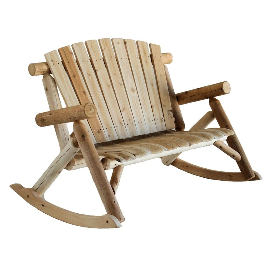 Shop lakeland mills cedar patio rocking chair at for Rocking chair