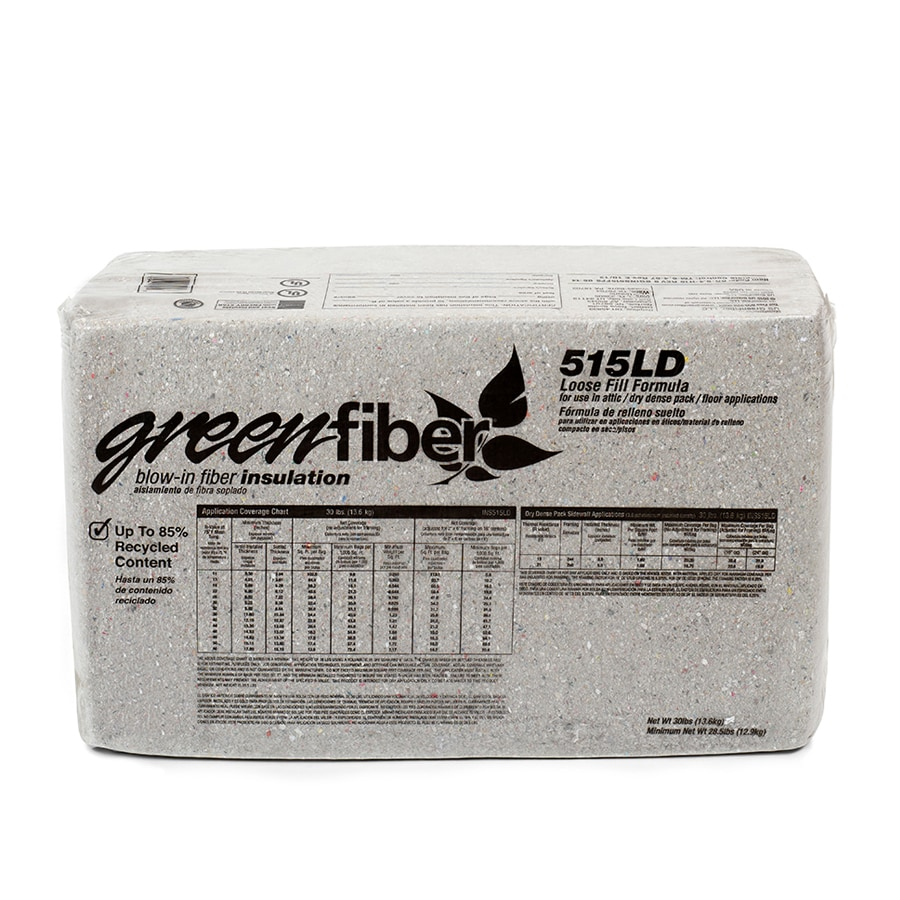 GreenFiber R19 60.5-sq ft Cellulose Blown-In Insulation with Sound Barrier