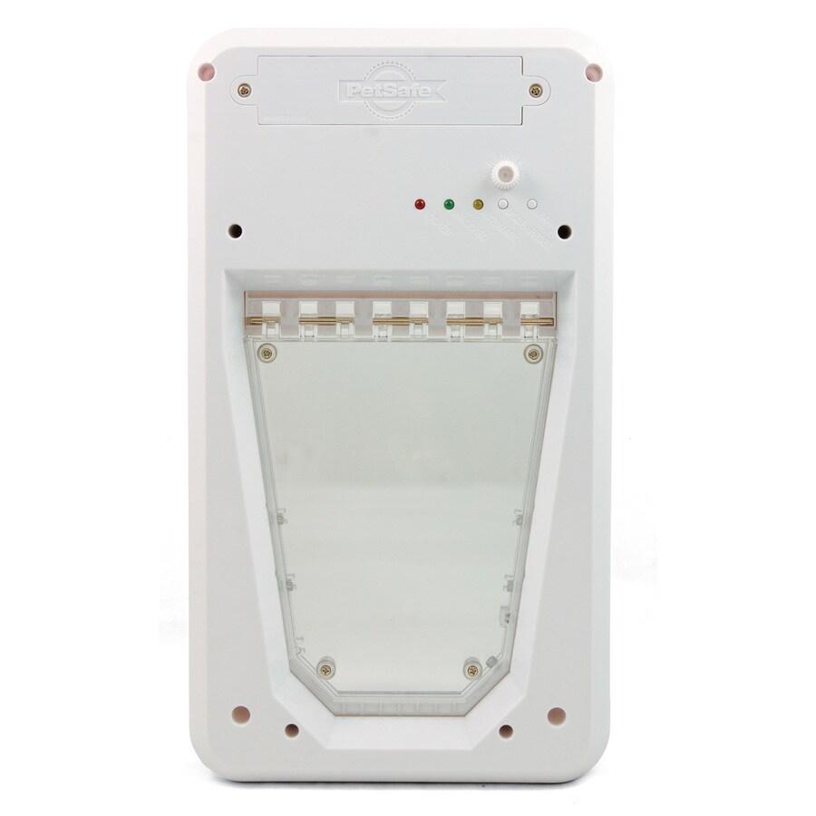 Small White Plastic Pet Door (Actual: 7.9375-in x 6.625-in)
