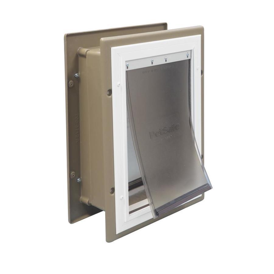 PetSafe Wall Entry Medium Tan Aluminum Pet Door (Actual: 12.25-in x 8.25-in)