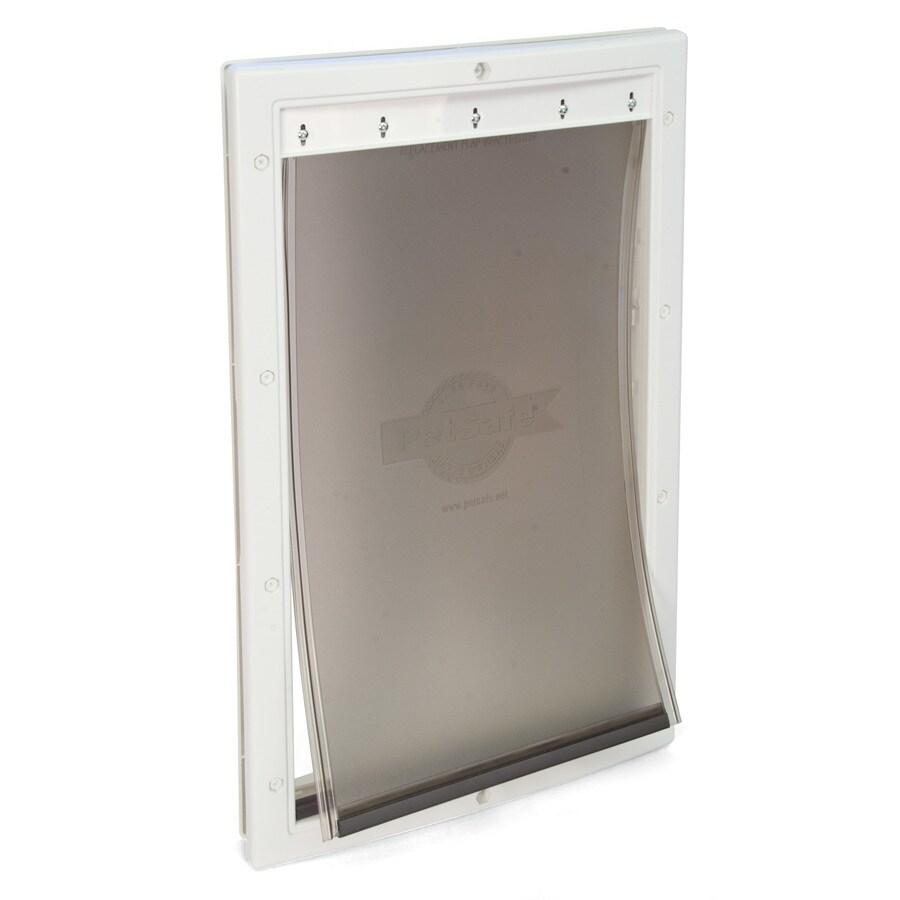 PetSafe Plastic Medium White Plastic Door or Wall Pet Door (Actual: 12.25-in x 8.125-in)