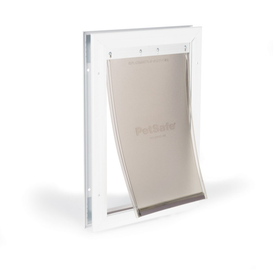 PetSafe Aluminum Medium White Aluminum Pet Door (Actual: 12.25-in x 8.25-in)