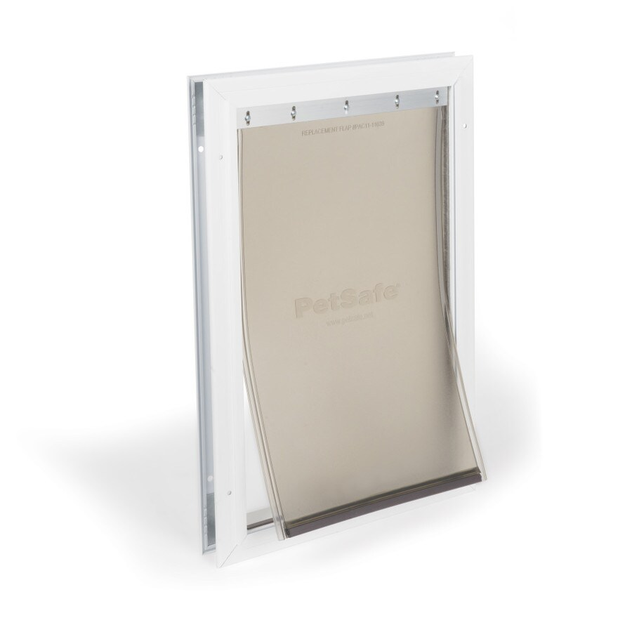 PetSafe Aluminum Large White Aluminum Pet Door (Actual: 16.2656-in x 10.2968-in)
