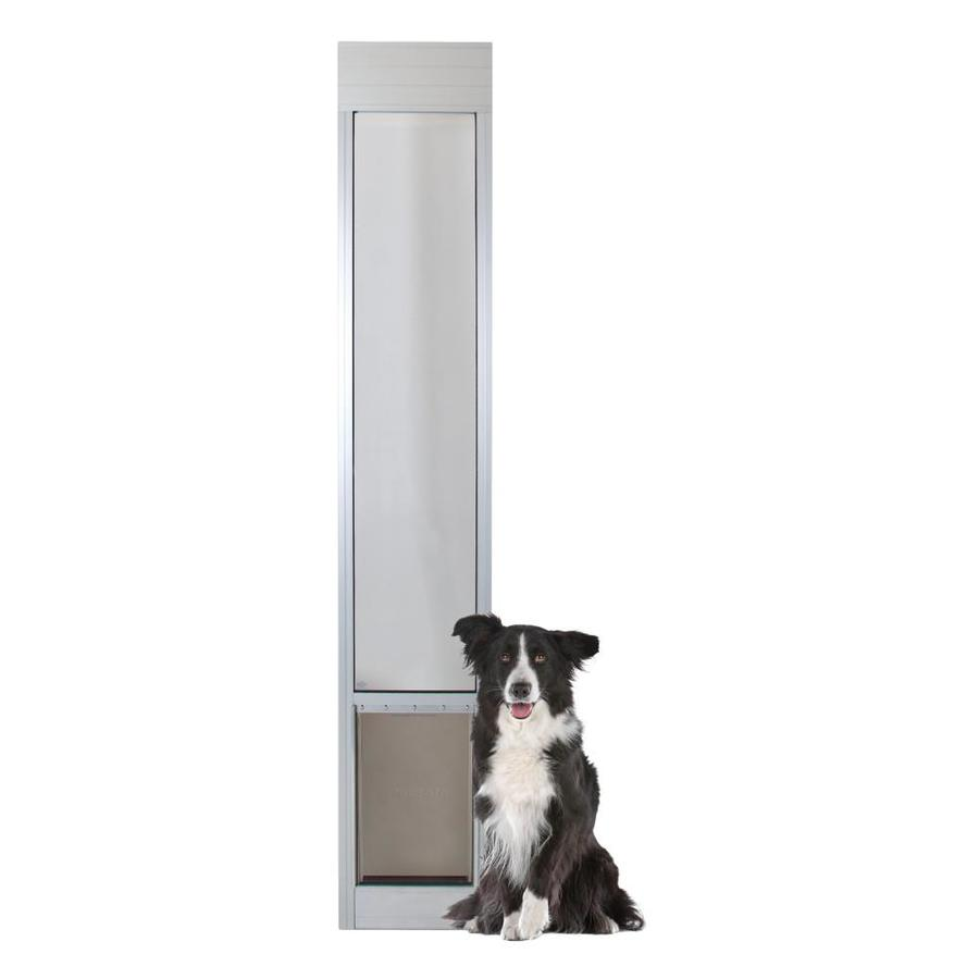 shop petsafe patio panel large satin aluminum sliding pet