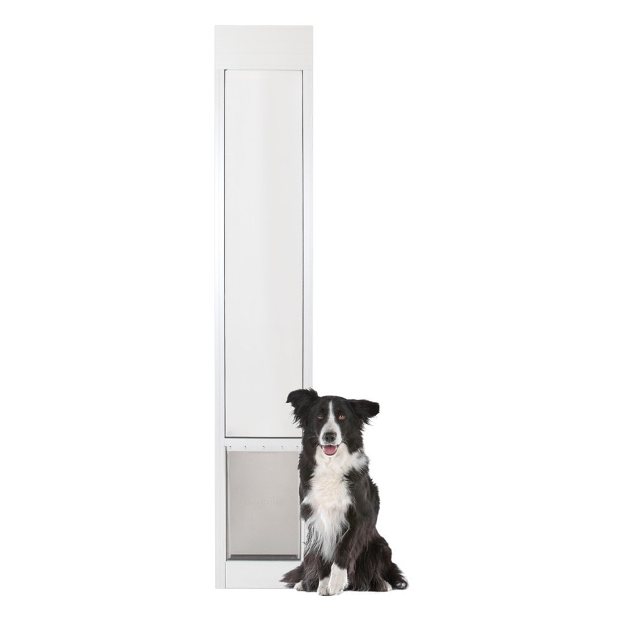 PetSafe Patio Panel Medium White Aluminum Sliding Pet Door (Actual: 12.1875-in x 8.125-in)