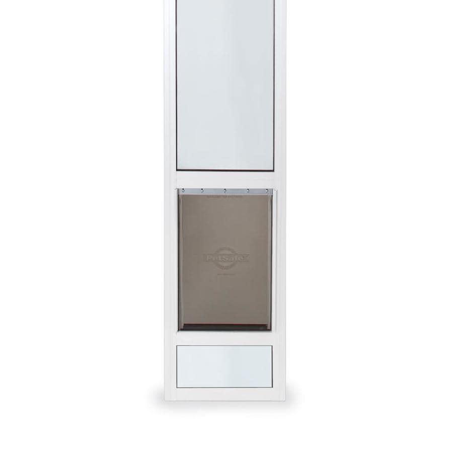 PetSafe Patio Panel X-Large White Aluminum Sliding Pet Door (Actual: 16.375-in x 10.25-in)
