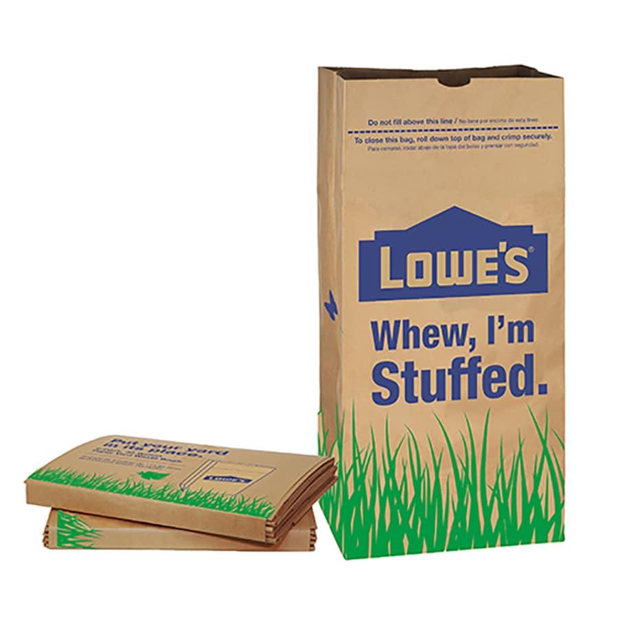 Garbax 5-Count 30-Gallon Natural Brown Leaf Trash Bags