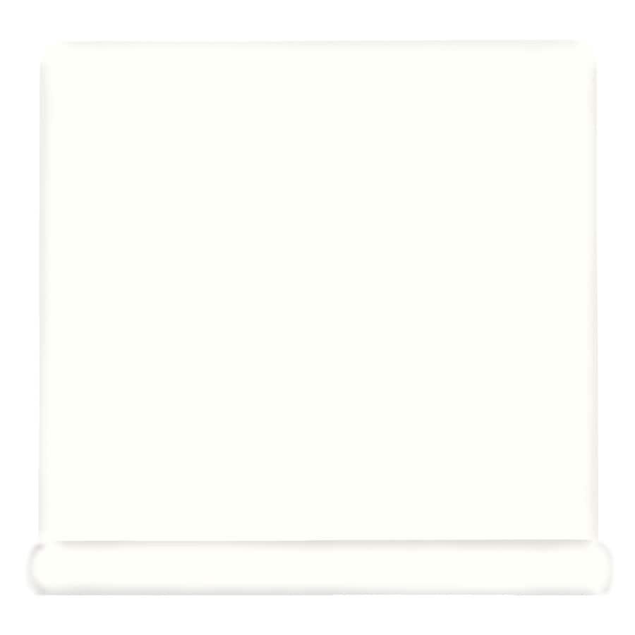 American Olean Matte Designer White Ceramic Cove Base Tile (Common: 4-in x 4-in; Actual: 4.25-in x 4.25-in)