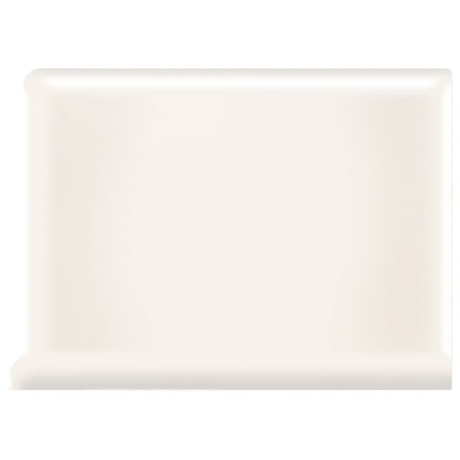 American Olean Matte Designer White Ceramic Cove Base Tile (Common: 4-in x 4-in; Actual: 4.25-in x 4.25-in)