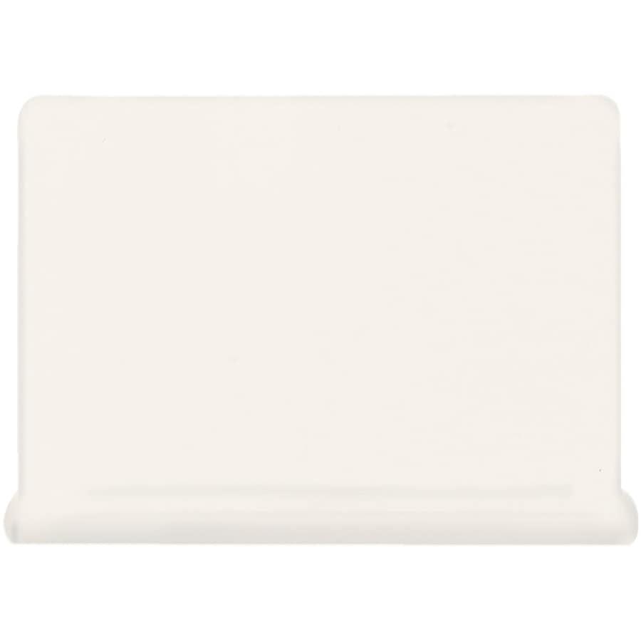 American Olean Matte Designer White Ceramic Cove Base Tile (Common: 4-in x 6-in; Actual: 4.25-in x 6-in)