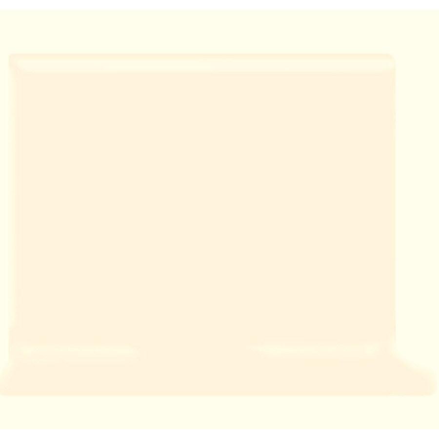 American Olean Bright Snow Mist Ceramic Cove Base Tile (Common: 4-in x 4-in; Actual: 4.25-in x 4.25-in)