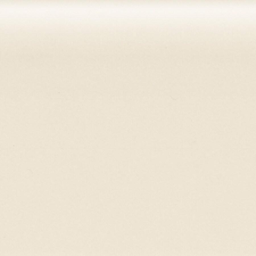 American Olean Bright Almond Ceramic Bullnose Tile (Common: 4-in x 4-in; Actual: 4.25-in x 4.25-in)