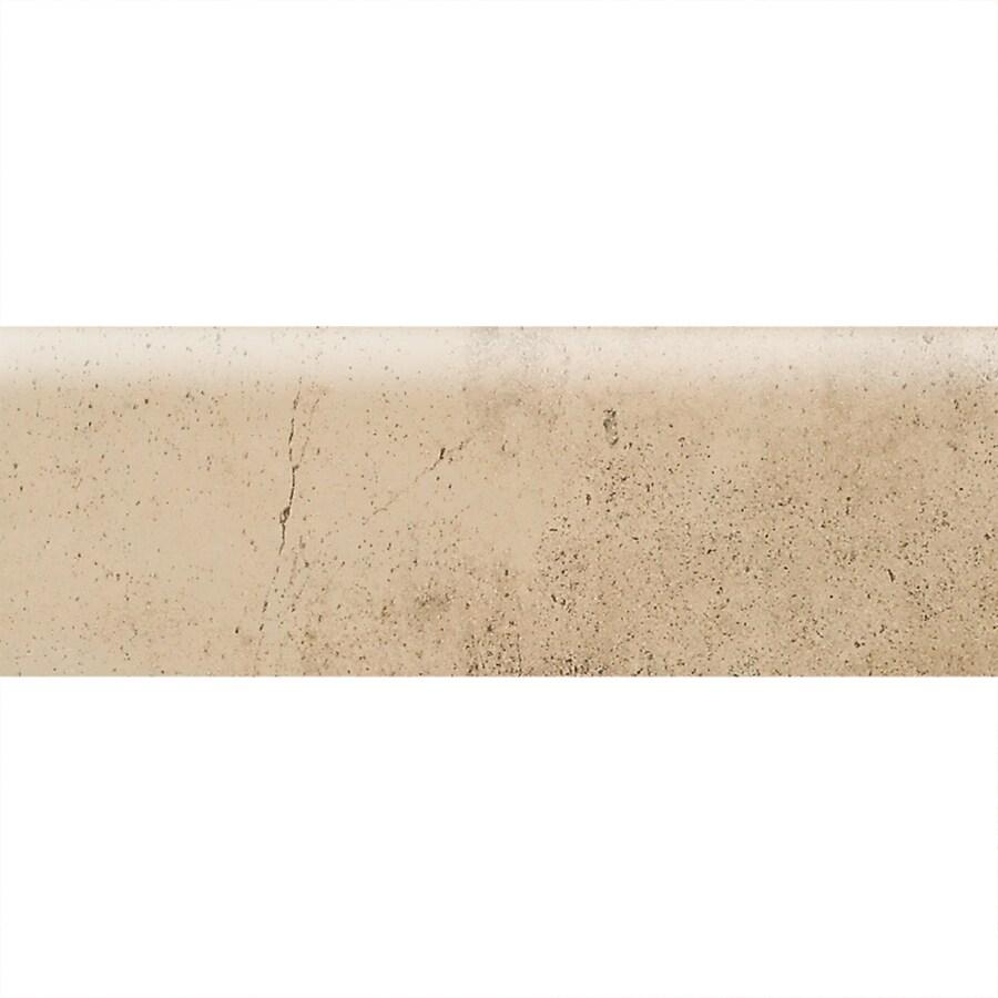 American Olean Costa Rei Oro Miele Ceramic Bullnose Tile (Common: 2-in x 6-in; Actual: 2-in x 6-in)
