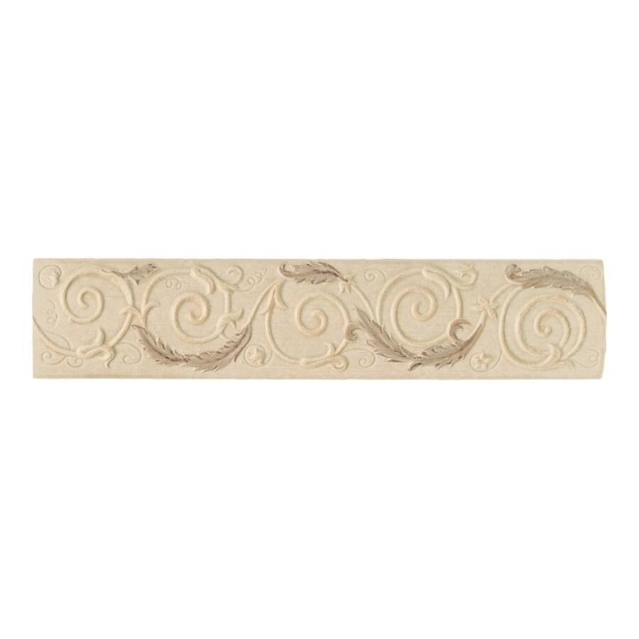 American Olean Costa Rei Sabbia Dorato Ceramic Listello Tile (Common: 3-in x 14-in; Actual: 3-in x 14-in)