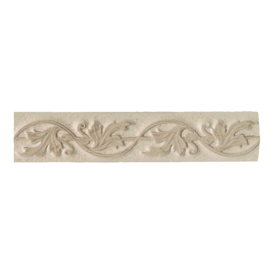 American Olean Costa Rei Sabbia Dorato Ceramic Listello Tile (Common: 2-in x 10-in; Actual: 2-in x 10-in)